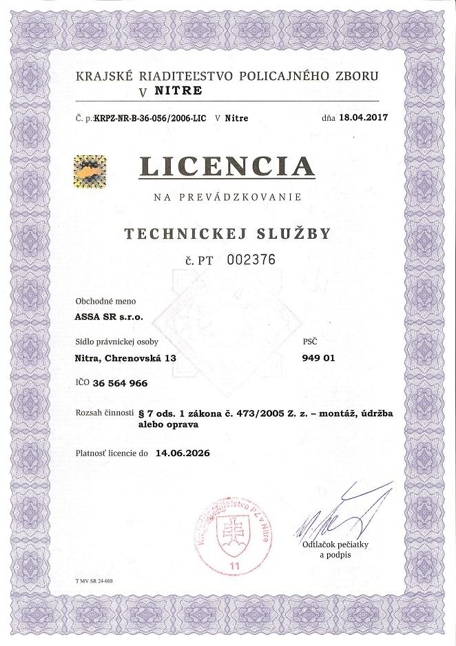 Licencia-na-prevadzkovanie-technickej-sluzby