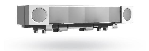 Ovládacie segmenty JA-192E sa nacvaknú na klávesnicu podľa potreby